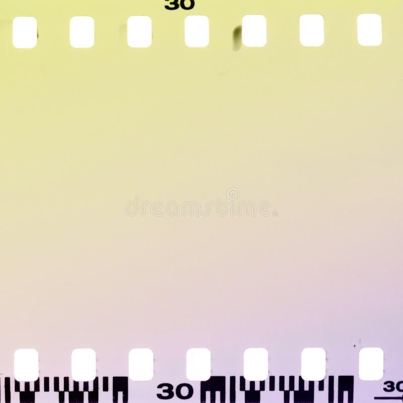 Marco de película Overexposed. imagenes de archivo