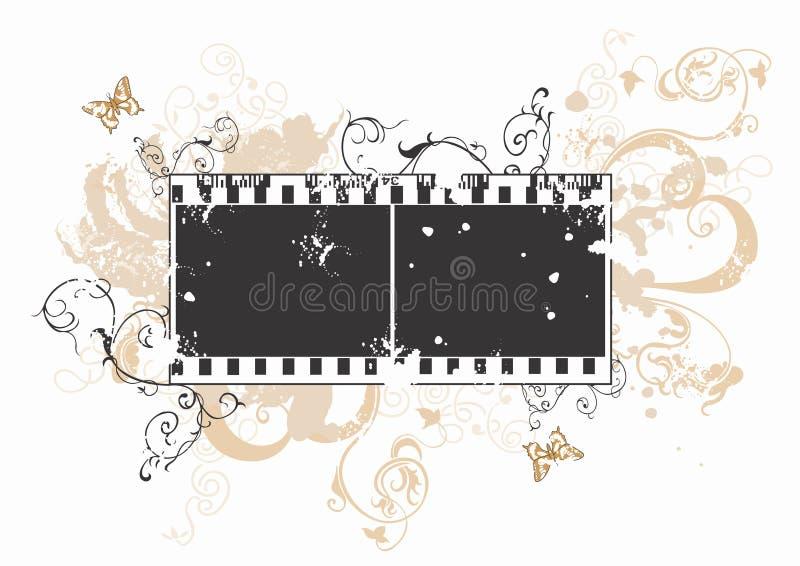 Marco de película sucio stock de ilustración