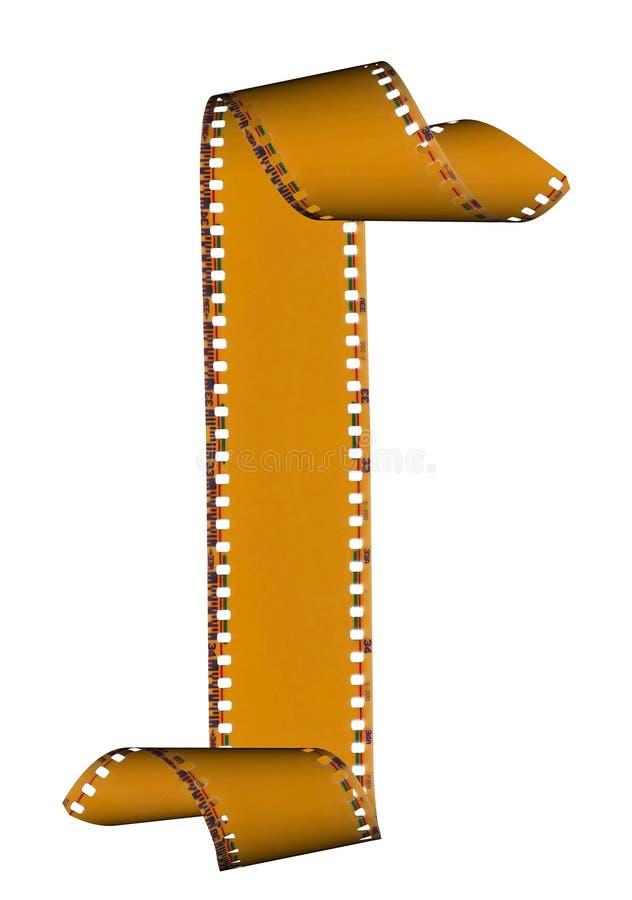Marco de películas abstracto de la diapositiva aislado en blanco imagen de archivo