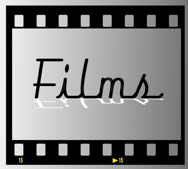 marco de películas de tira de la película ilustración del vector