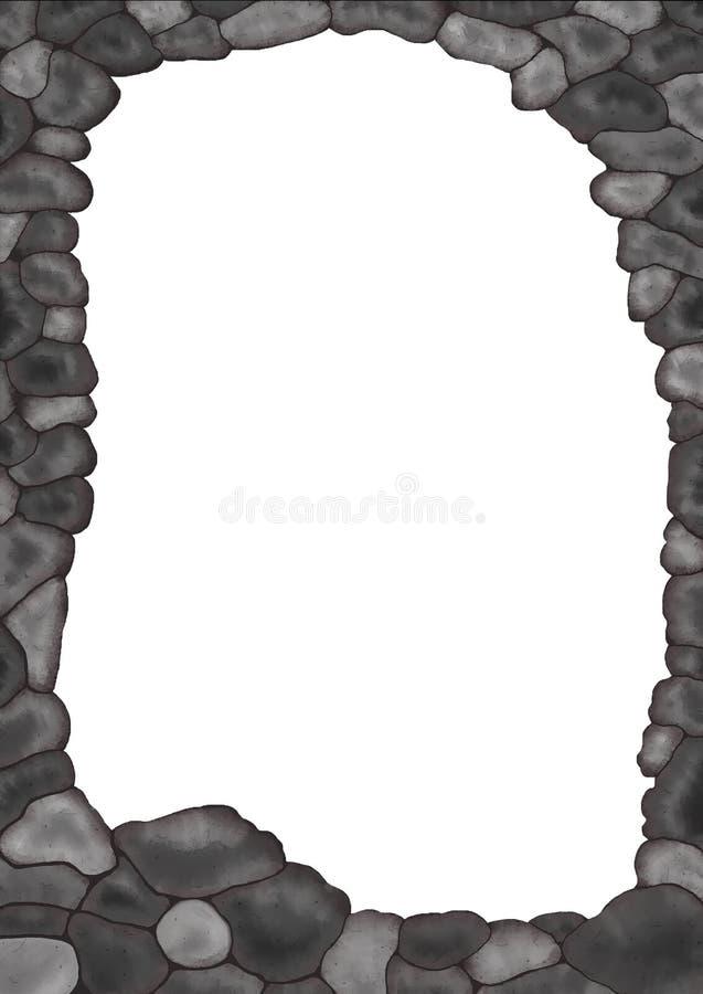 Marco de piedra ilustración del vector