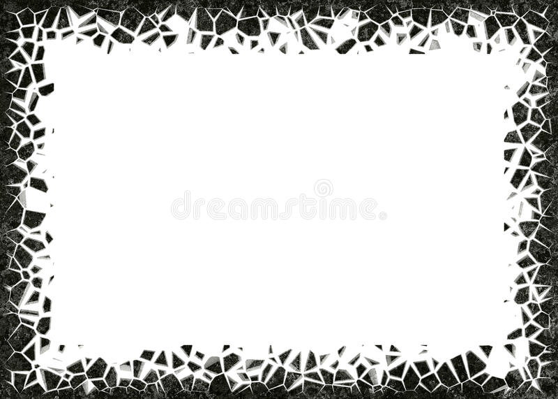 marco de piedras en el fondo blanco ilustración del vector
