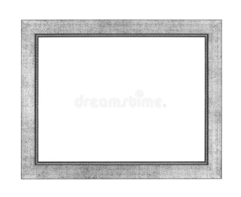 Marco de plata fotografía de archivo