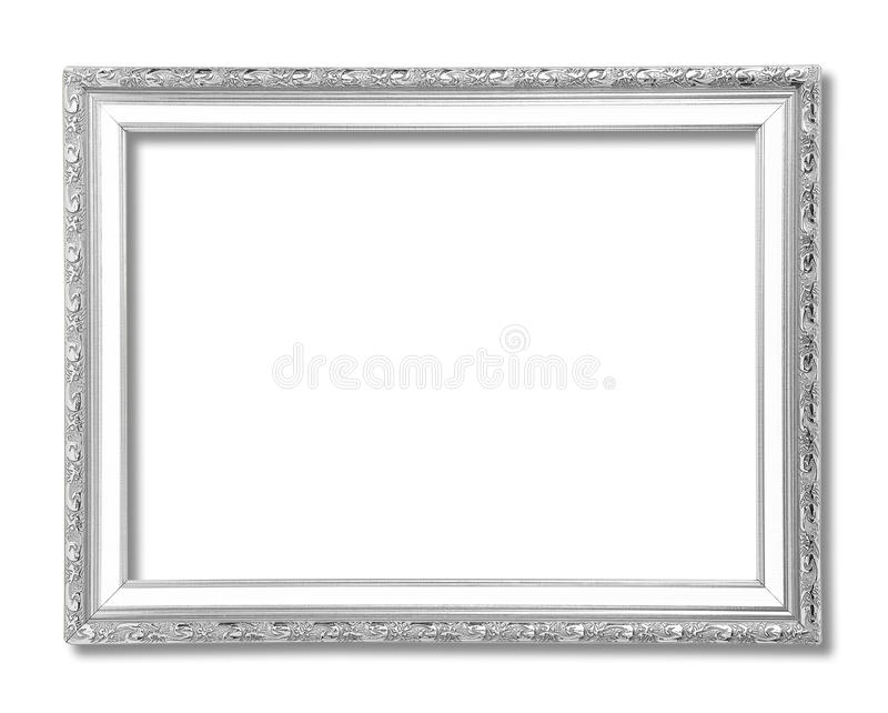 Marco de plata aislado en blanco fotos de archivo libres de regalías