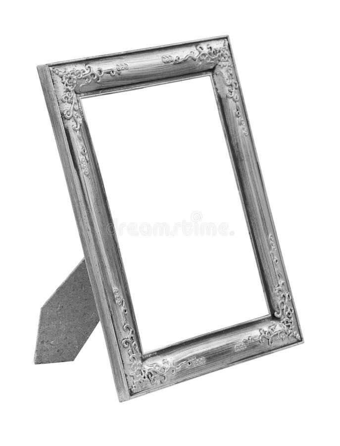 Marco de plata de la imagen aislado en blanco foto de archivo