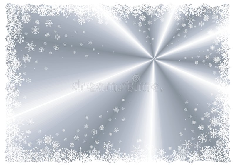 Marco de plata del invierno stock de ilustración