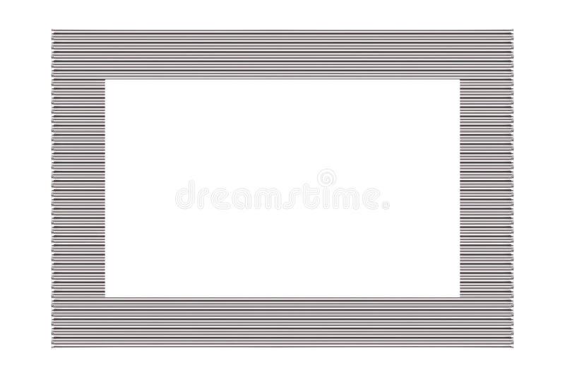 Marco de plata del metal foto de archivo libre de regalías