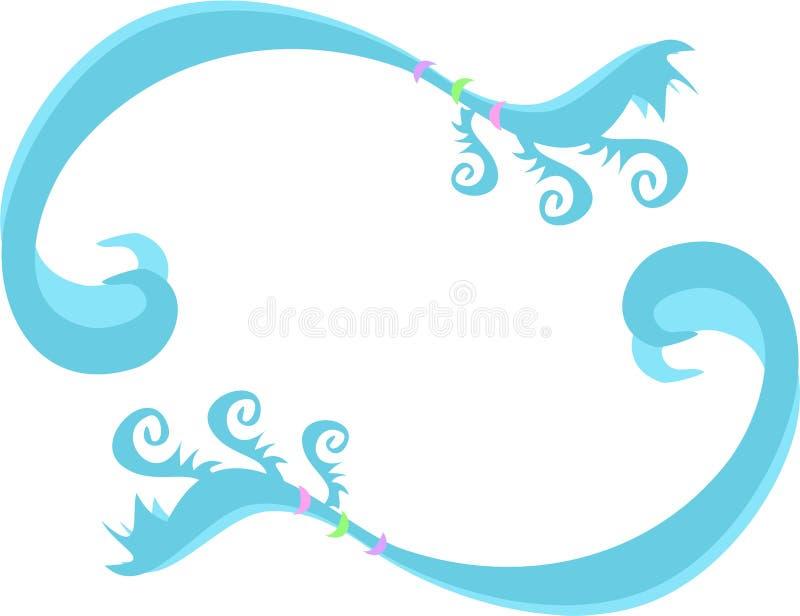 Marco de remolinos, de espirales y de anillos azules libre illustration