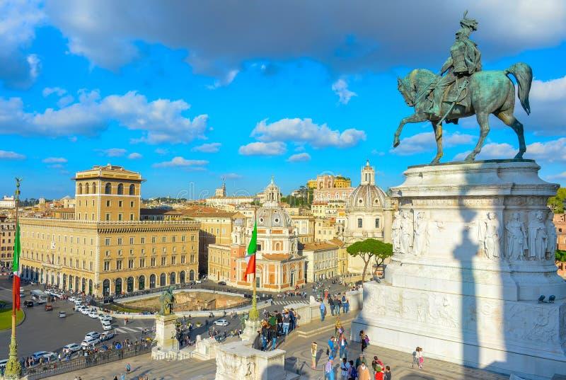 Marco de Roma da visita do turista, Itália imagens de stock