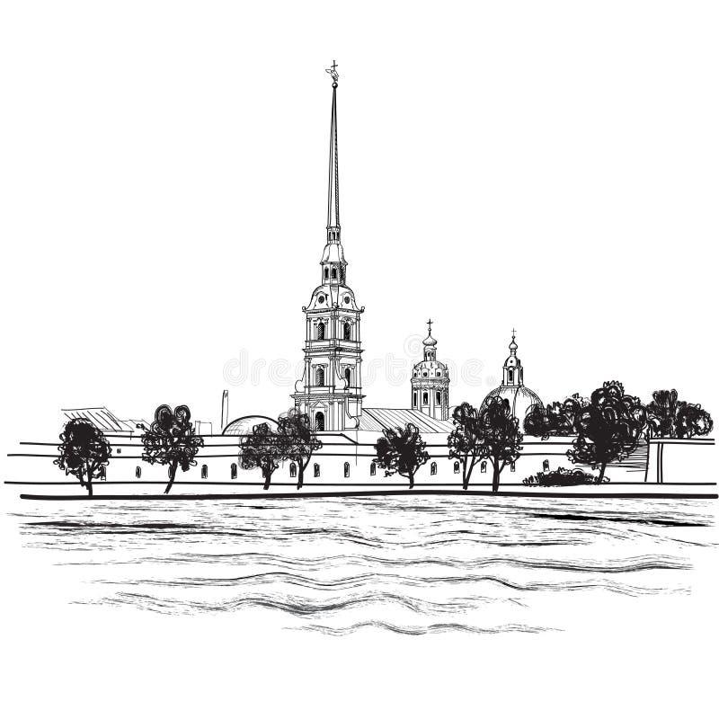 Marco de St Petersburg, Rússia. Ilustração do marco do curso ilustração royalty free