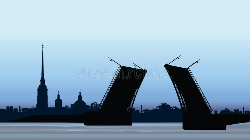 Marco de St Petersburg, Rússia Saint Peter e catedral de Paul ilustração royalty free