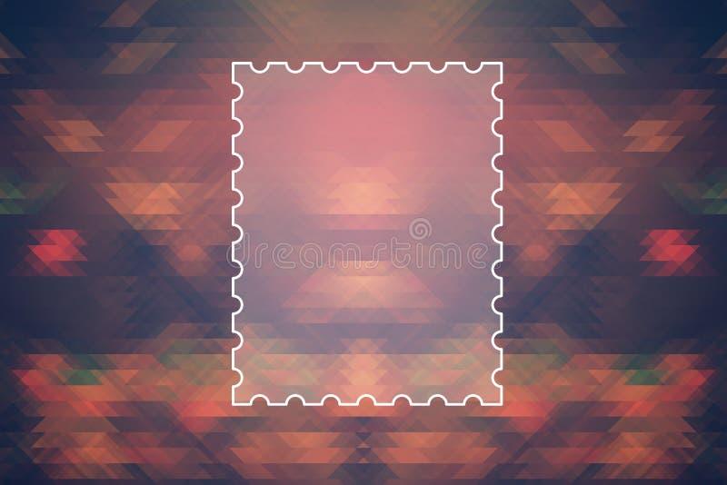 Marco de texto en fondo abstracto coloreado del triángulo ilustración del vector