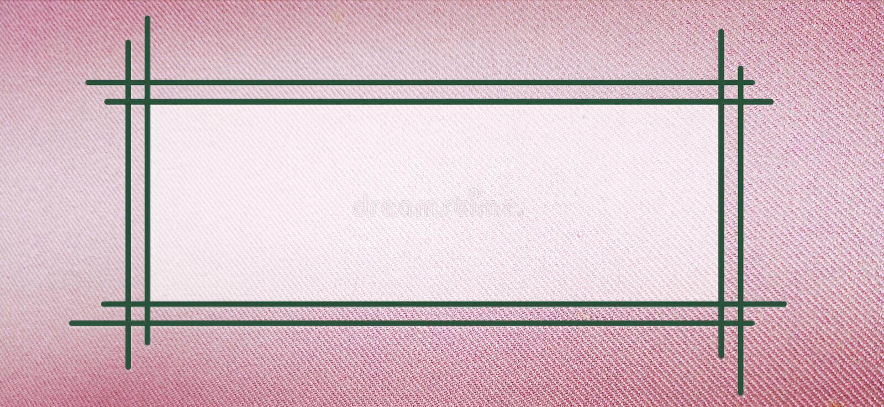 Marco de texto en textura rosada del paño stock de ilustración