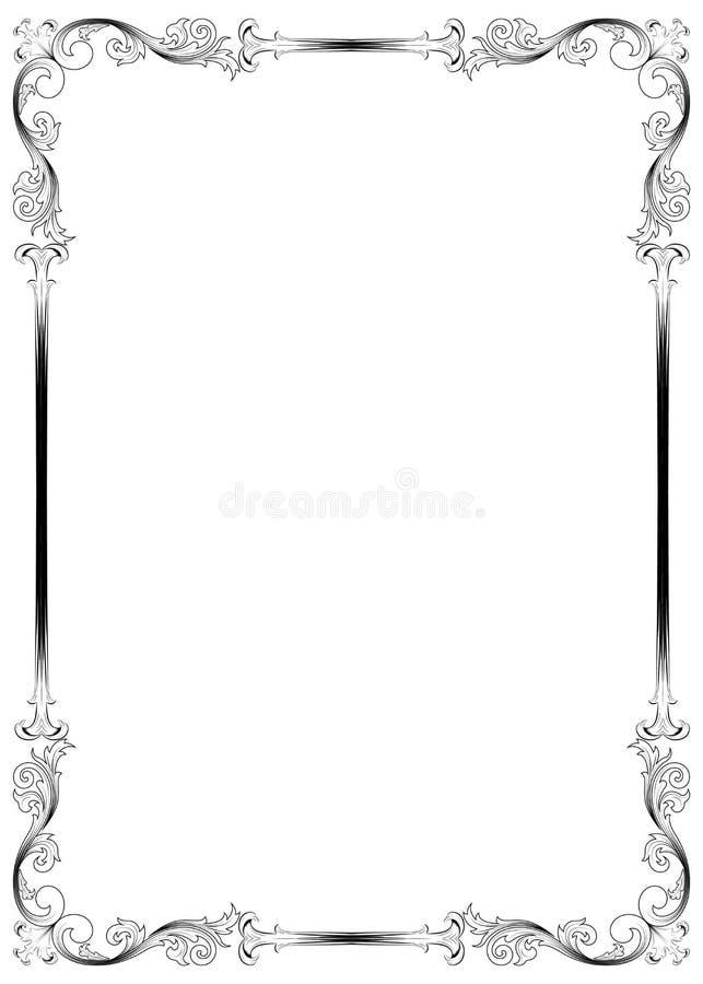 Marco decorativo stock de ilustración