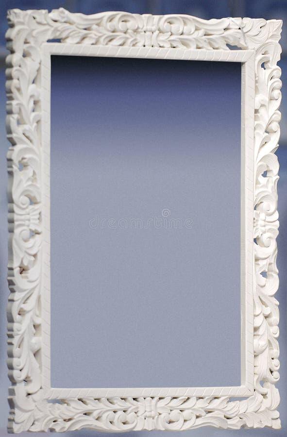 Marco decorativo blanco fotos de archivo libres de regalías