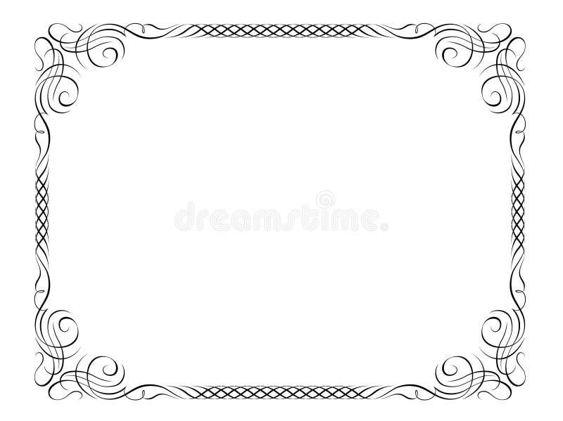Marco decorativo de la caligrafía stock de ilustración