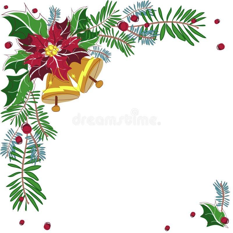 Marco decorativo de la esquina de la Navidad ilustración del vector