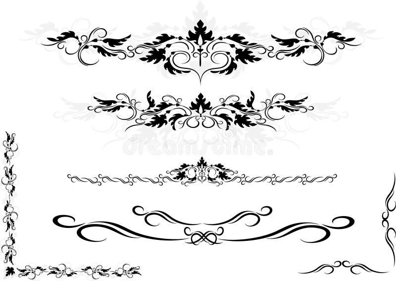 Marco decorativo del ornamento, esquina. Artes gráficos. fotos de archivo libres de regalías