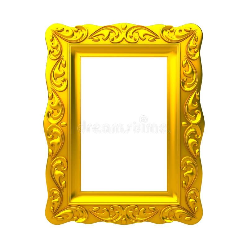 Marco decorativo del oro ilustración del vector
