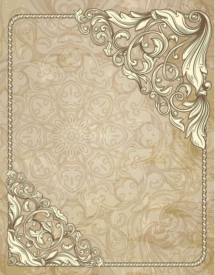 Marco decorativo del vintage ilustración del vector