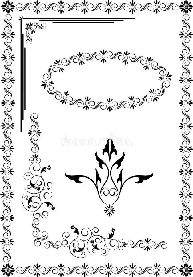 Marco decorativo, frontera del ornamento. Artes gráficos. imagen de archivo libre de regalías