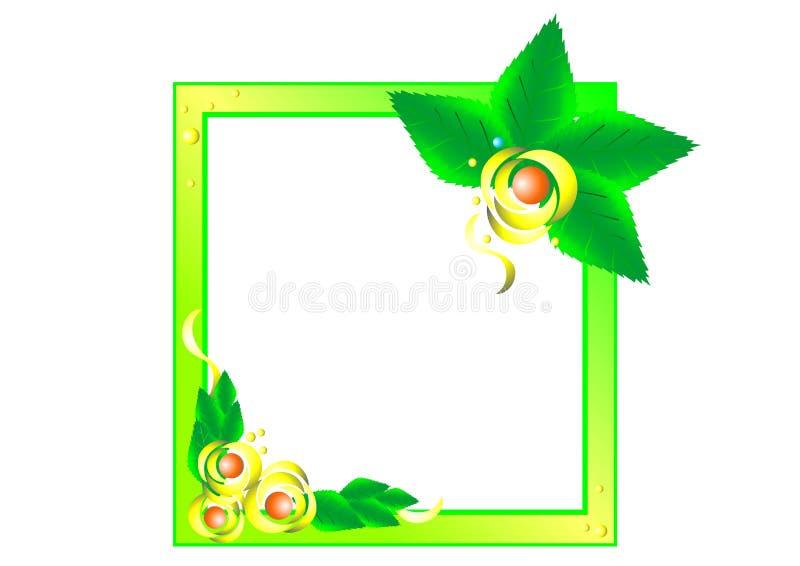 Marco decorativo hermoso de la flor del vector de pétalos stock de ilustración