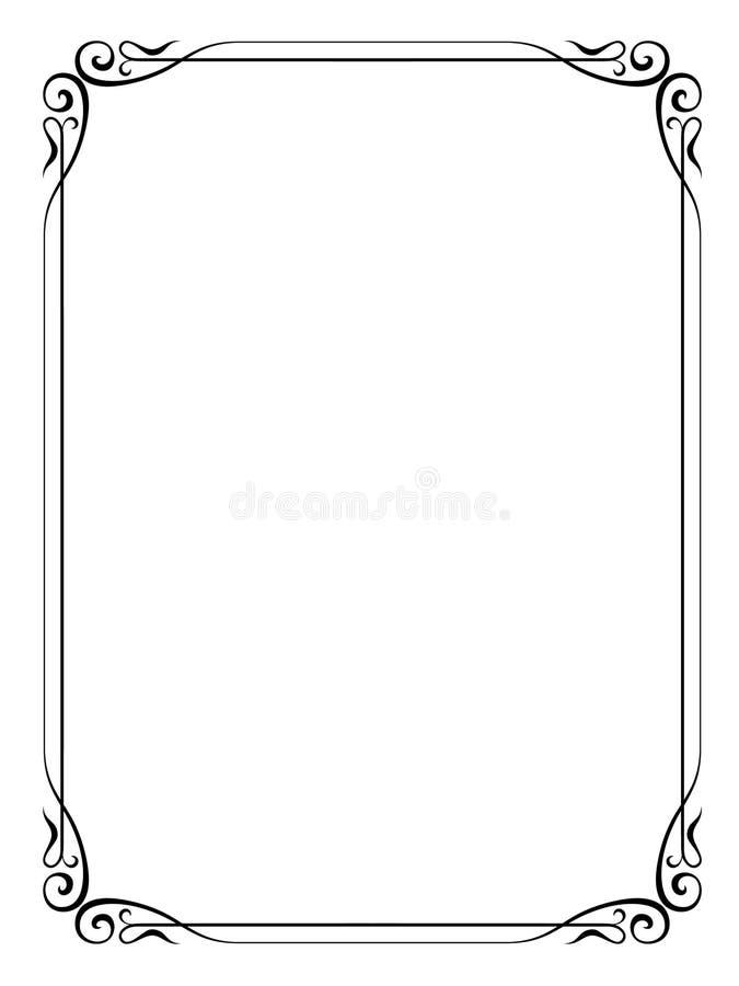 Marco decorativo ornamental stock de ilustración
