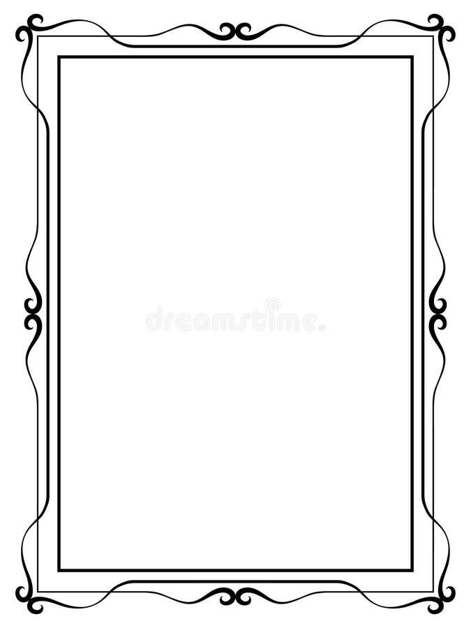Marco decorativo ornamental de la caligrafía ilustración del vector