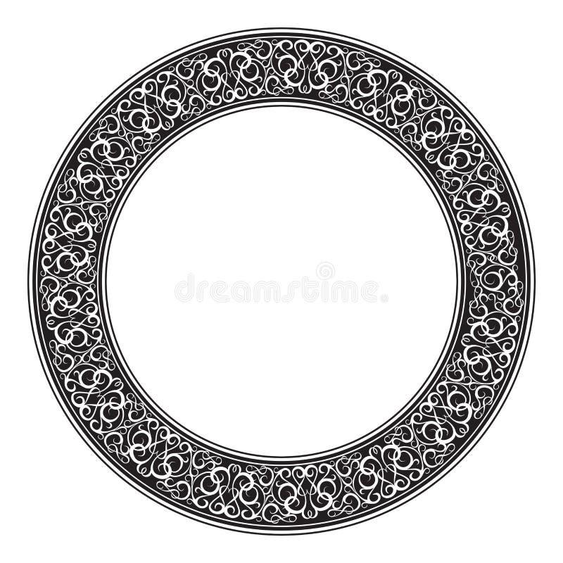 Marco decorativo ornamental del círculo ilustración del vector
