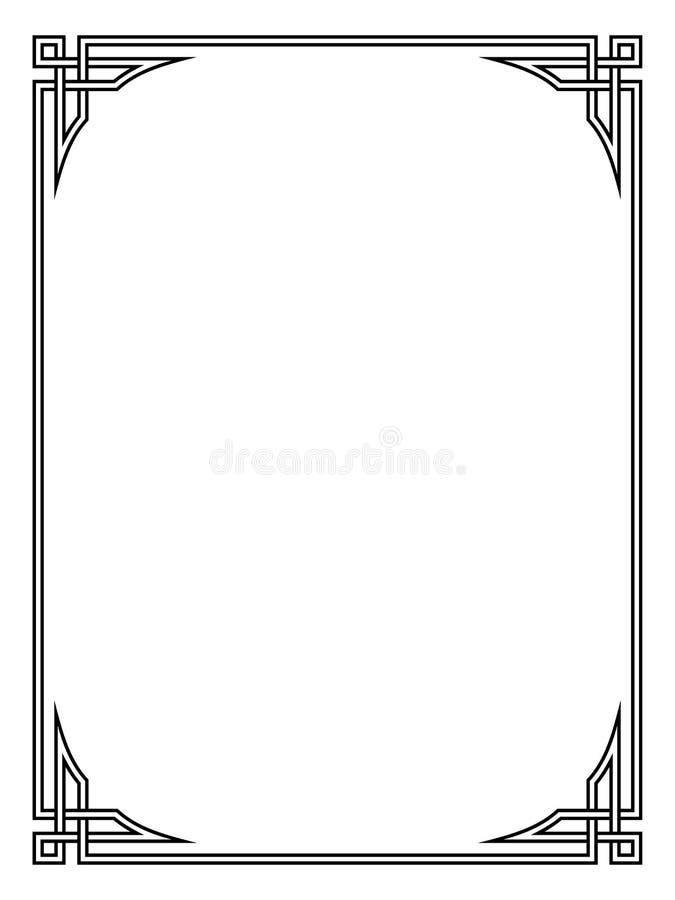 Marco decorativo ornamental del negro del estilo romano ilustración del vector