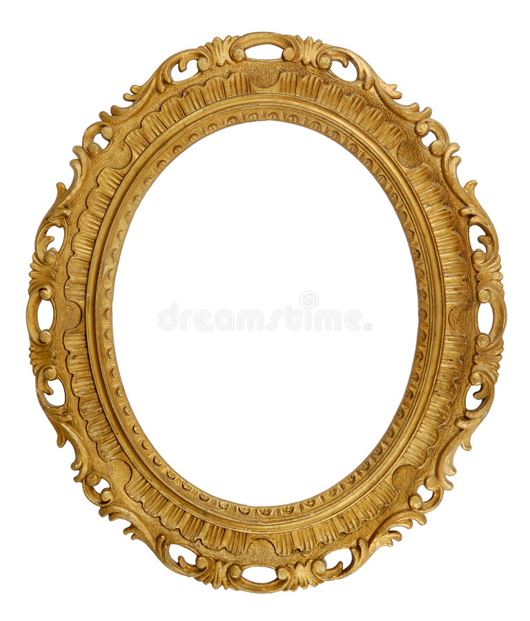Marco decorativo oval imagen de archivo libre de regalías