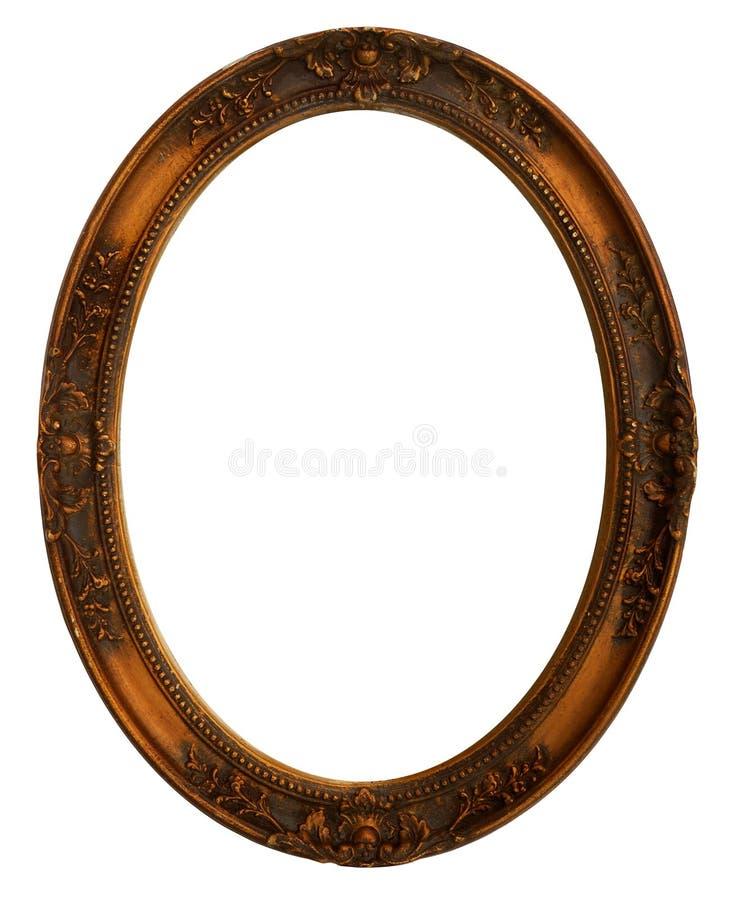Marco decorativo oval fotografía de archivo