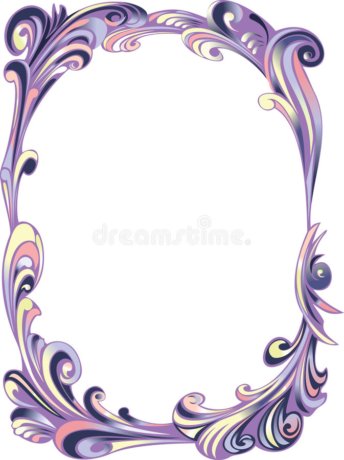Marco del óvalo de la decoración stock de ilustración