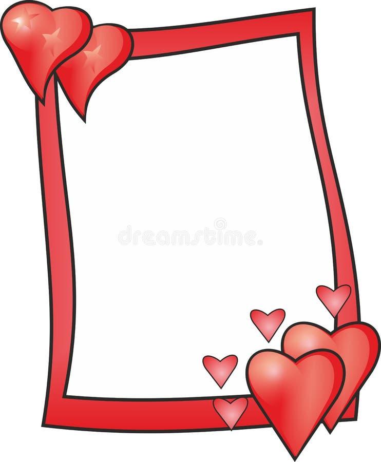 Marco del amor stock de ilustración
