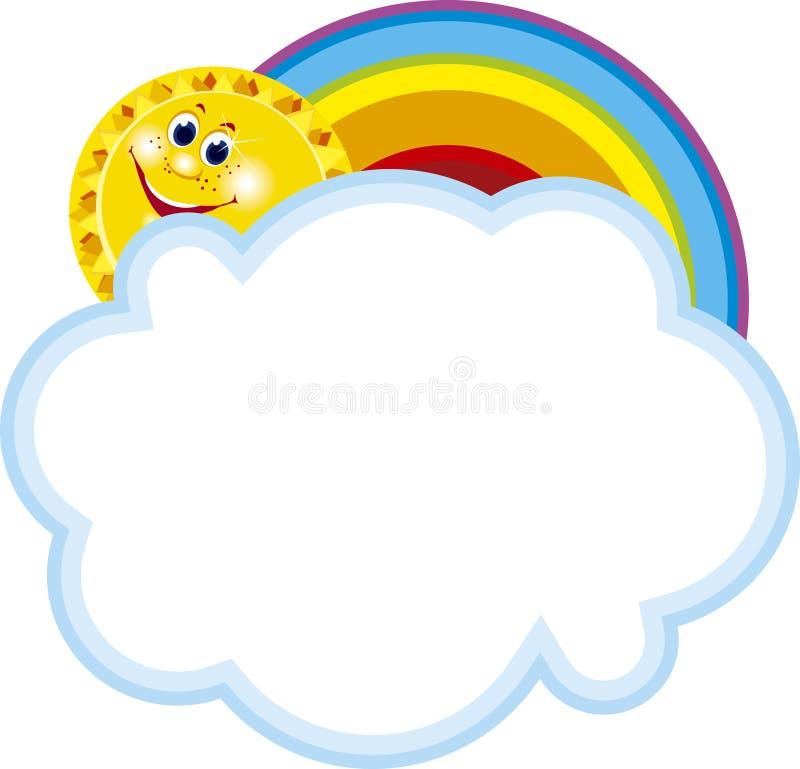 Marco del arco iris ilustración del vector. Ilustración de forma ...