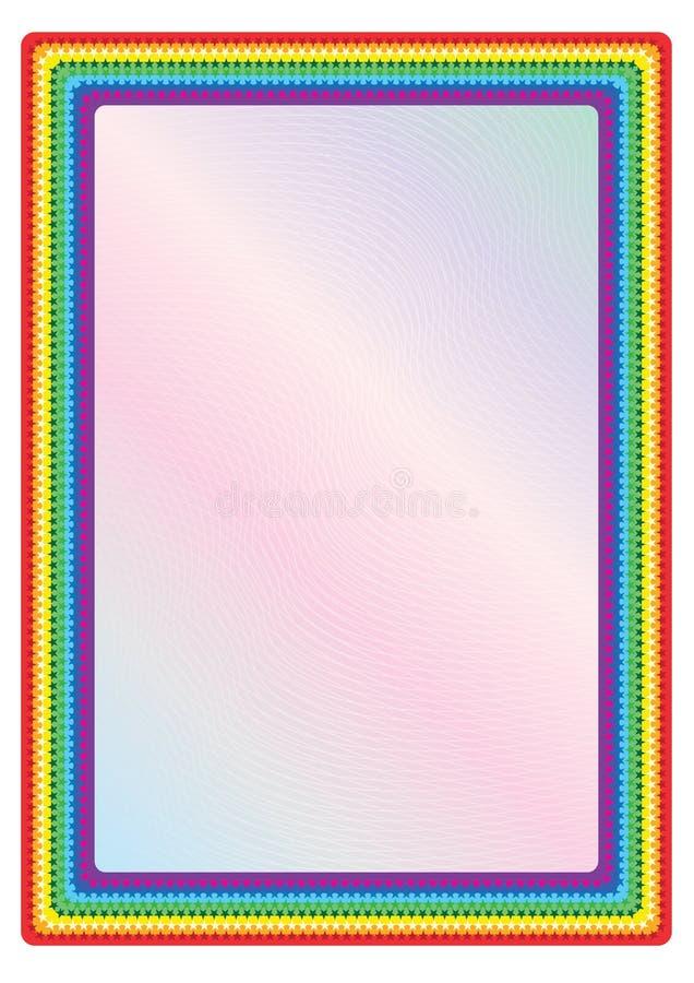 Marco del arco iris ilustración del vector. Ilustración de colorido ...