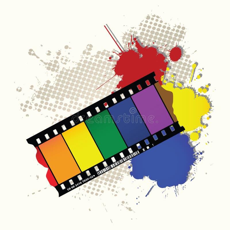Marco del arco iris de Grunge ilustración del vector
