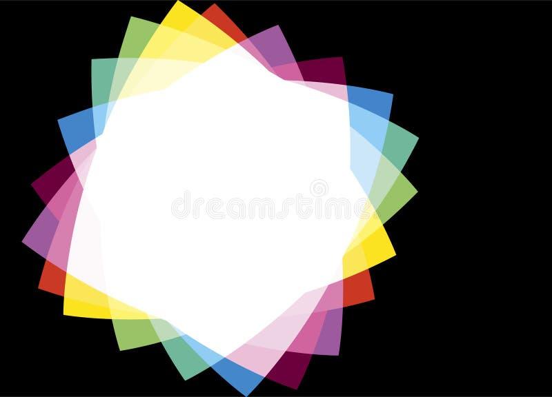 Marco del arco iris en un fondo negro libre illustration