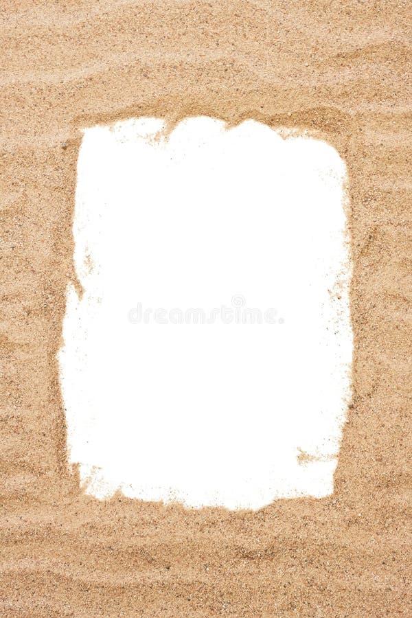 Marco del arena de mar foto de archivo