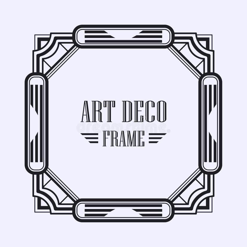 Marco del art déco ilustración del vector