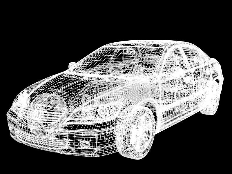 Marco del automóvil ilustración del vector