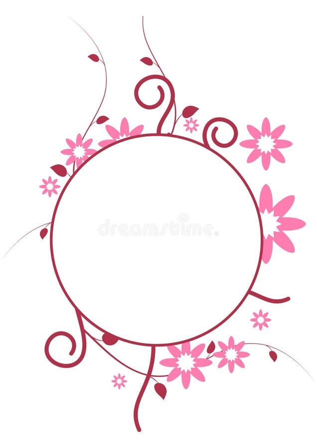 Marco del círculo stock de ilustración