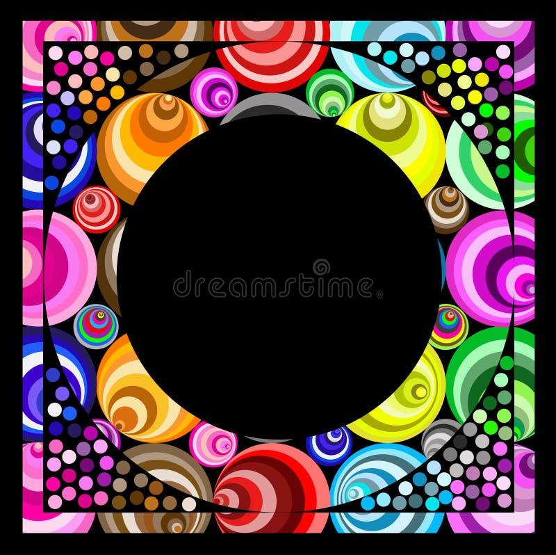 Marco del círculo de la ilusión óptica stock de ilustración