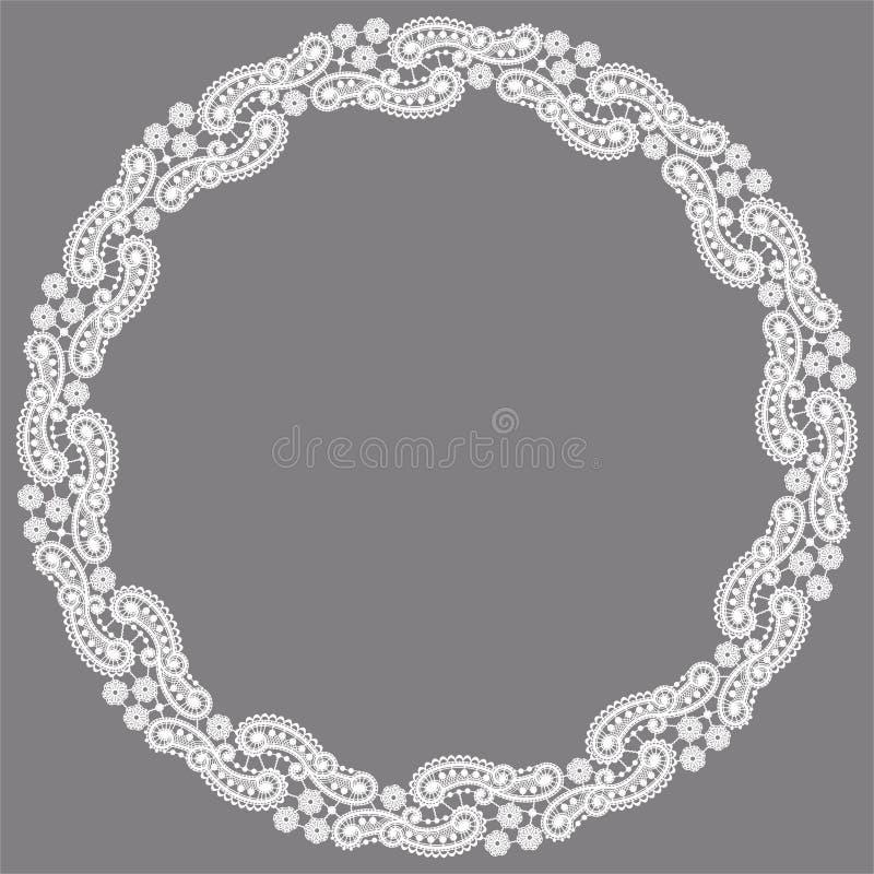 Marco del círculo Fondo del vector del cordón libre illustration