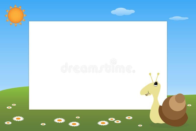 Marco del cabrito - caracol stock de ilustración