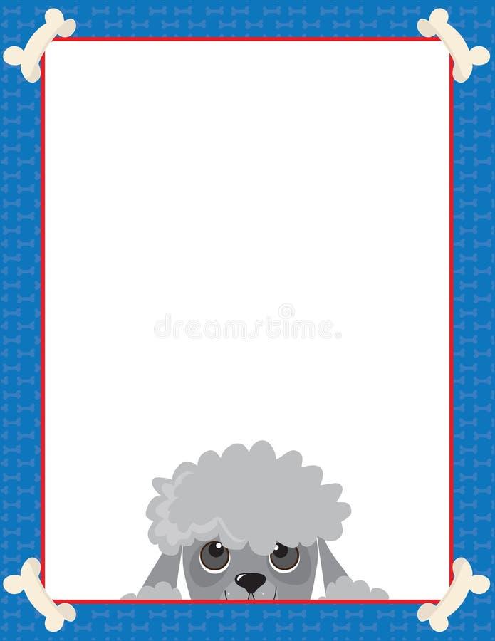 Marco del caniche ilustración del vector