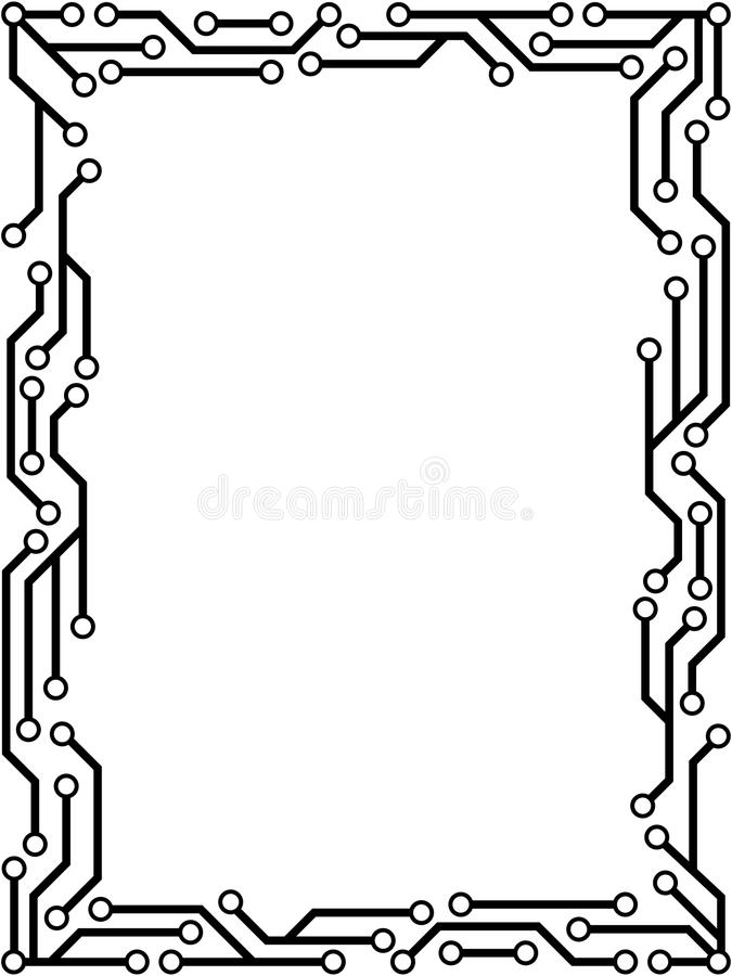 Marco del circuito stock de ilustración