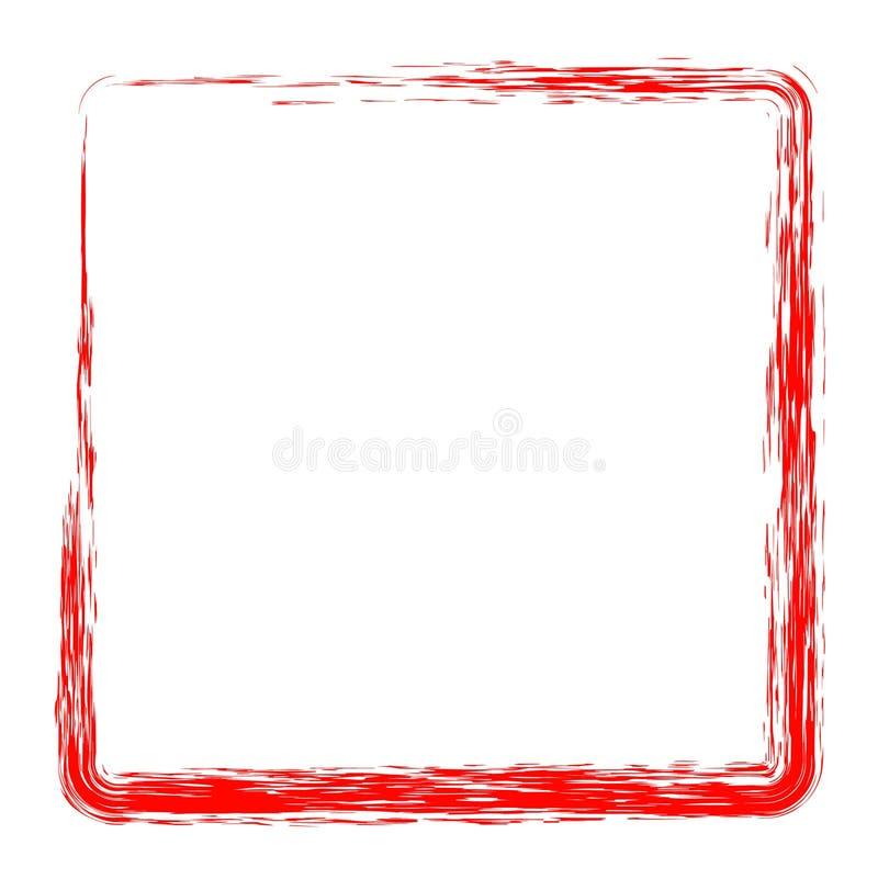 Marco del creyón del cuadrado rojo ilustración del vector