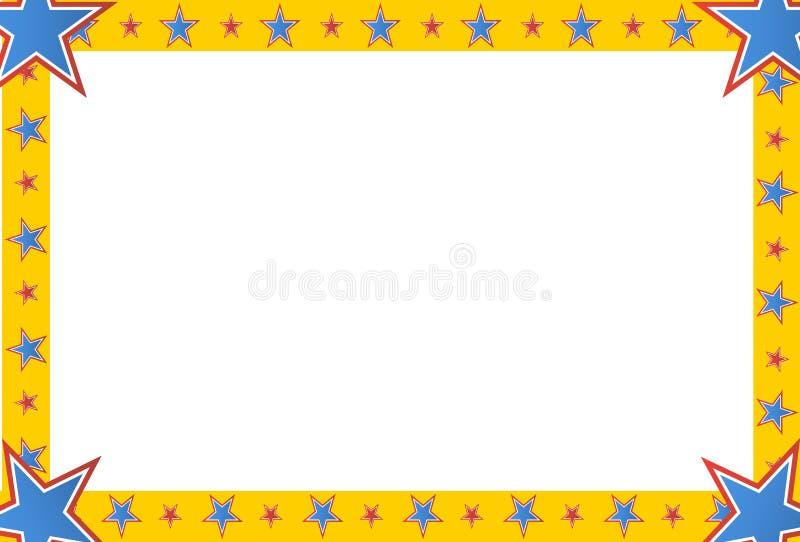 Marco del cuadrado de la estrella del circo ilustración del vector