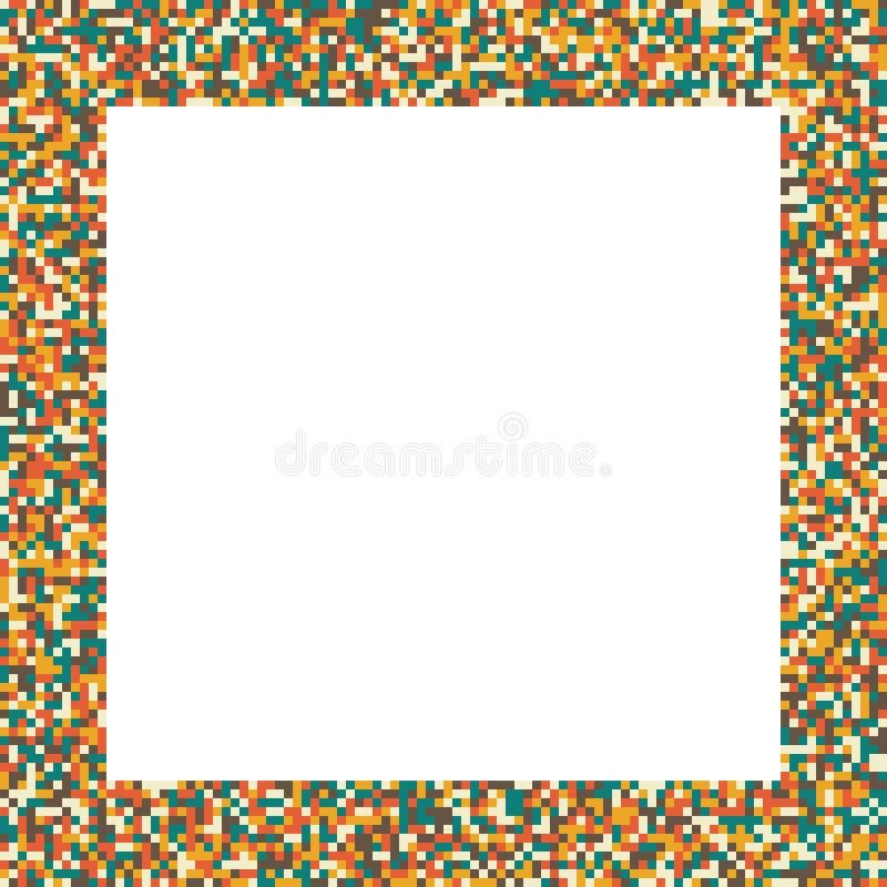 Marco Del Cuadrado Del Mosaico Del Pixel En ( Retro; Vintage ...
